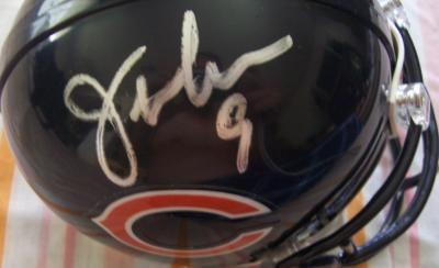 Jim McMahon autographed Chicago Bears mini helmet
