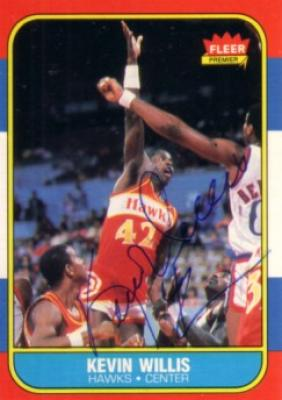 Kevin Willis autographed Atlanta Hawks 1986-87 Fleer Rookie Card