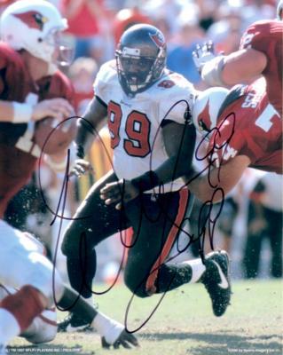 Warren Sapp autographed 8x10 Tampa Bay Buccaneers photo