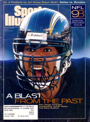 Junior Seau autographed San Diego Chargers 1993 Sports Illustrated