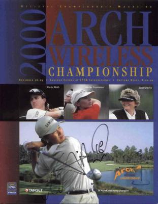 Se Ri Pak autographed 2000 LPGA Arch Wireless golf program