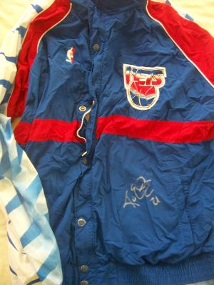Kevin Edwards autographed New Jersey Nets game worn warm-up jacket