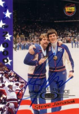 Steve Janaszak certified autograph 1980 Miracle on Ice Signature Rookies card #15