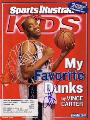 Vince Carter autographed New Jersey Nets Sports Illustrated for Kids