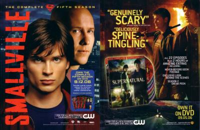 Smallville &amp; Supernatural 2006 Comic-Con jumbo promo card