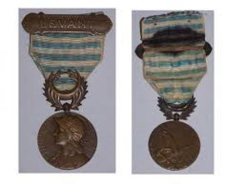 FRANCE Medal WW1 Lebanon Syria Campaign w/Bar Levant