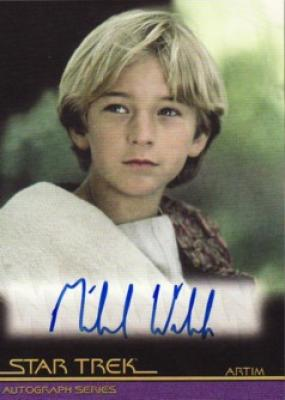 Michael Welch Star Trek certified autograph card