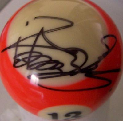 Xiaoting Pan autographed billiards ball