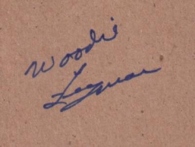Woodie Fryman autograph on plain card