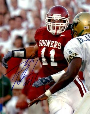 Teddy Lehman autographed 8x10 Oklahoma Sooners photo