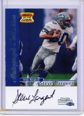 Steve Largent certified autograph Seattle Seahawks 1999 Fleer card