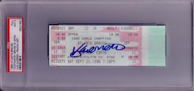 Vladimir Guerrero autographed first home run ticket PSA/DNA PSA 9