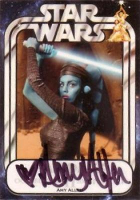 Amy Allen certified autograph Aayla Secura Star Wars card