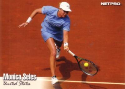 Monica Seles 2003 Netpro card