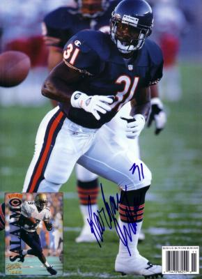 Rashaan Salaam autographed Chicago Bears Beckett Football back cover