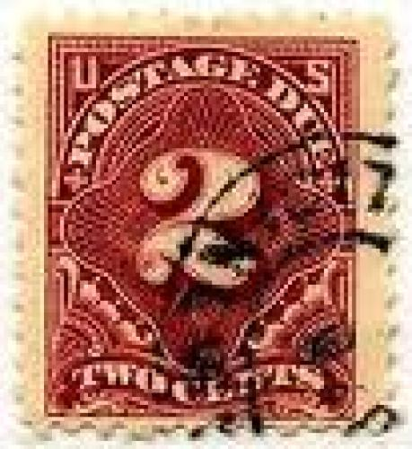 Stamps; USA Postage Due Stamp 1917 2 c