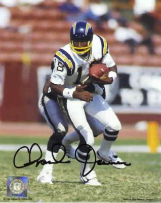 Charlie Joiner autographed 8x10 San Diego Chargers photo