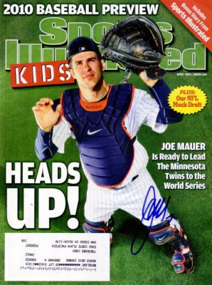 Joe Mauer autographed Minnesota Twins 2010 Sports Illustrated for Kids magazine