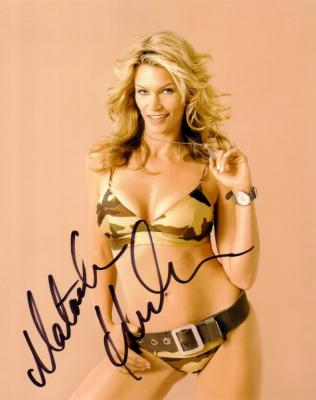 Natasha Henstridge autographed 8x10 bikini photo