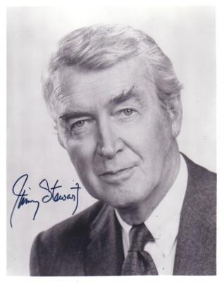 Jimmy Stewart autographed 8x10 photo