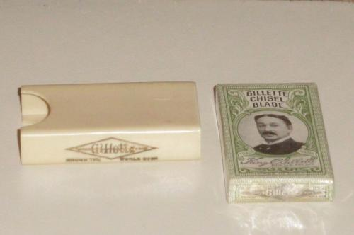 Gillette Blade Box w NOS Chisel Blades