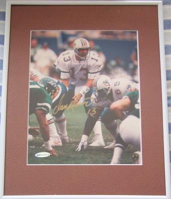 Dan Marino autographed Miami Dolphins 8x10 photo matted & framed UDA
