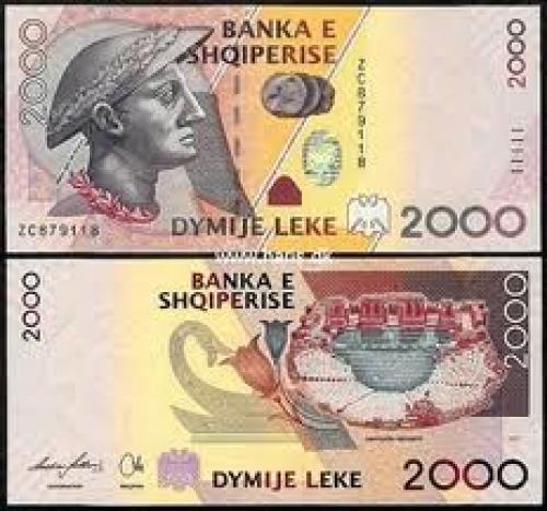 Banknotes;  Albania 2000 Leke Banknote