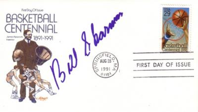 Bill Sharman autographed Basketball Hall of Fame First Day Cover
