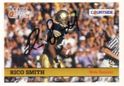 Rico Smith Colorado certified autograph 1992 Courtside card