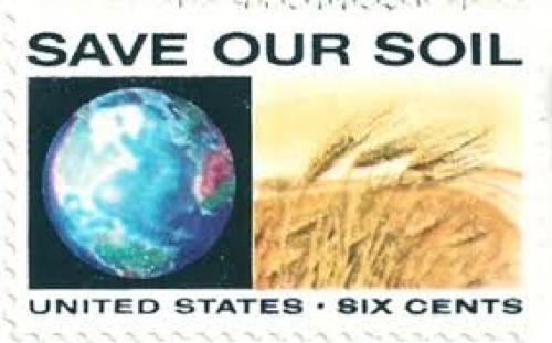 USA stamp 1970. Save Our Soil, 6 cents. postmarked in 2012
