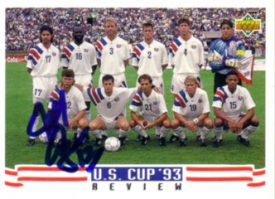 Jeff Agoos autographed US Soccer 1993 Upper Deck card