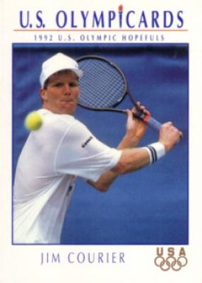 Jim Courier 1992 U.S. Olympic Hopefuls card