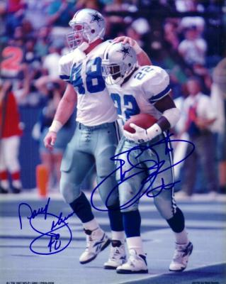 Emmitt Smith & Daryl Johnston autographed Dallas Cowboys 8x10 photo
