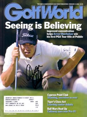 Arron Oberholser autographed 2006 Golf World magazine