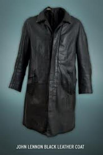 Memorabilia; John Lennon Black Leather Coat
