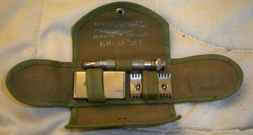1918 Gillette U.S.Army Khaki Razor Set