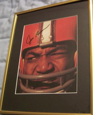 Jim Brown autographed Cleveland Browns 8x10 photo matted &amp; framed