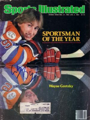 Wayne Gretzky autographed Edmonton Oilers 1982 Sportsman of the Year Sports Illustrated