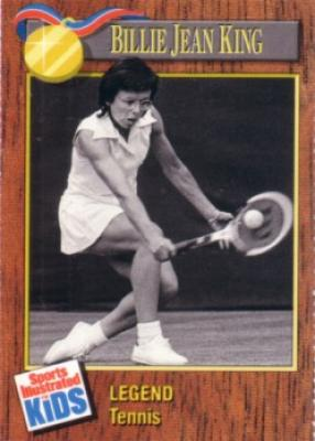 Billie Jean King 1990 Sports Illustrated for Kids tennis card