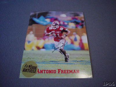 Antonio Freeman autographed Virginia Tech 8x10 photo