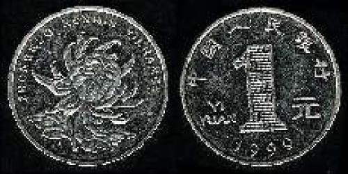 1 yuan; Year; 1999; (km y#1069)