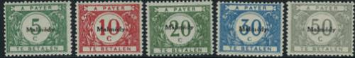 Malmedy overprints, postage due 5v; Year: 1920