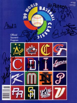 2009 Cuba team autographed World Baseball Classic program Leonys Martin Frederich Cepeda Pedro Lazo