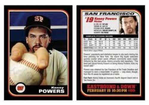 Kenny Powers Baseball Card - San Francisco