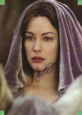 Liv Tyler autographed Lord of the Rings Arwen magazine photo