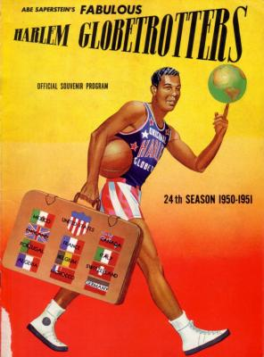 1950-51 Harlem Globetrotters basketball program or yearbook