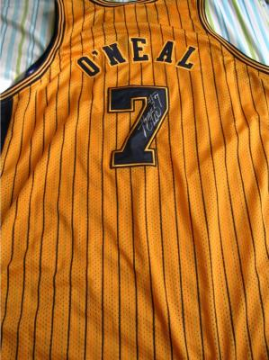 Jermaine O&#039;Neal autographed Indiana Pacers authentic game jersey
