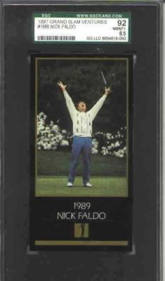 Nick Faldo 1997 Masters card SGC 92 NrMt-Mt+ (PSA 8.5)