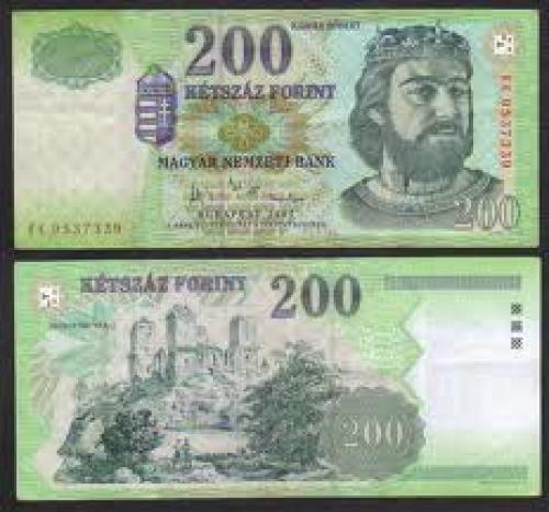 Banknotes; 2007 Hungary 200 Forint