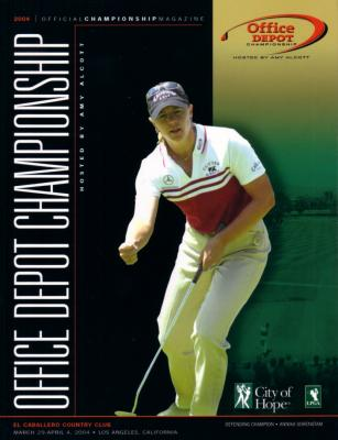 Annika Sorenstam Career Win #50 2004 LPGA Office Depot program